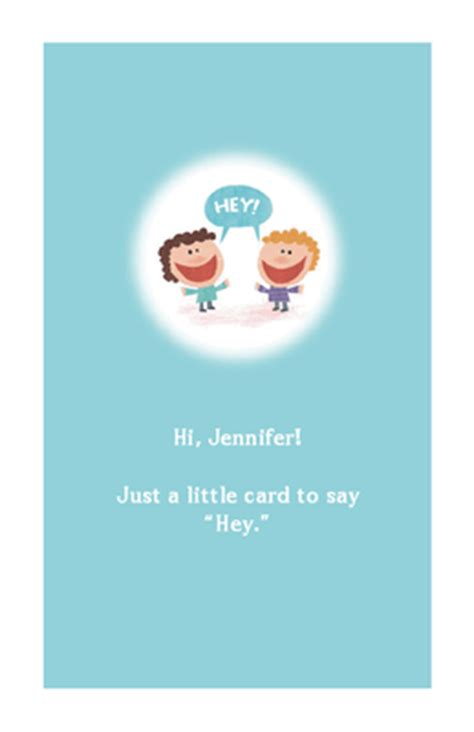 printable card just because quot a little quot hey quot quot just because printable card blue