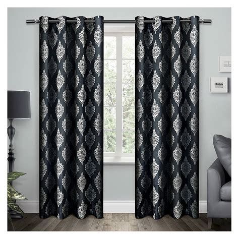 exclusive home curtains exclusive home damask curtain panels set of 2 panels ebay