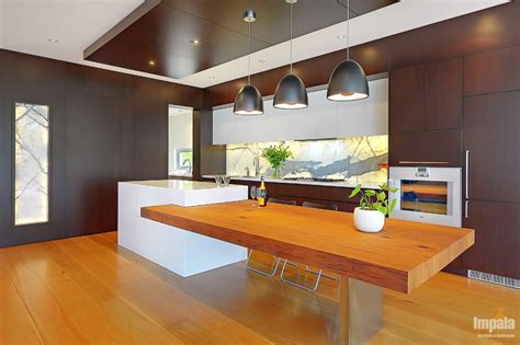kitchen bench design large house with open plan kitchen