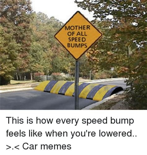 Speed Bump Meme - mother of all speed bumps this is how every speed bump