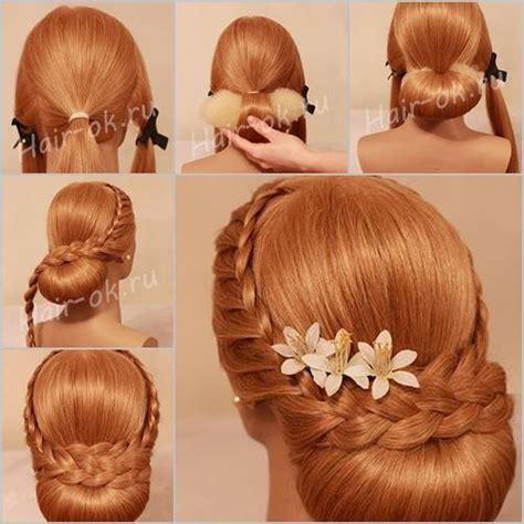 how to diy easy and elegant bun hairstyle icreativeideas how to diy elegant evening braid hairstyle www fabartdiy com