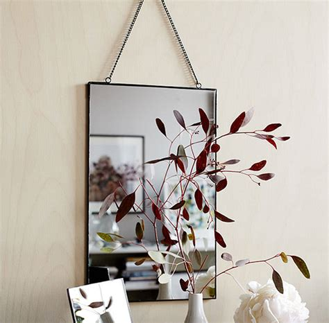 brass mirror assorted shapes by idyll home metal hanging mirror by idyll home notonthehighstreet com