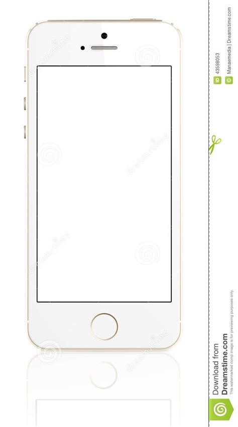 3d Home Design 64 Bit gold iphone 5s with blank screen editorial stock photo