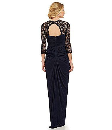 Wedding Hair Accessories Dillards by Papell V Neck Lace Sleeve Gown Papell