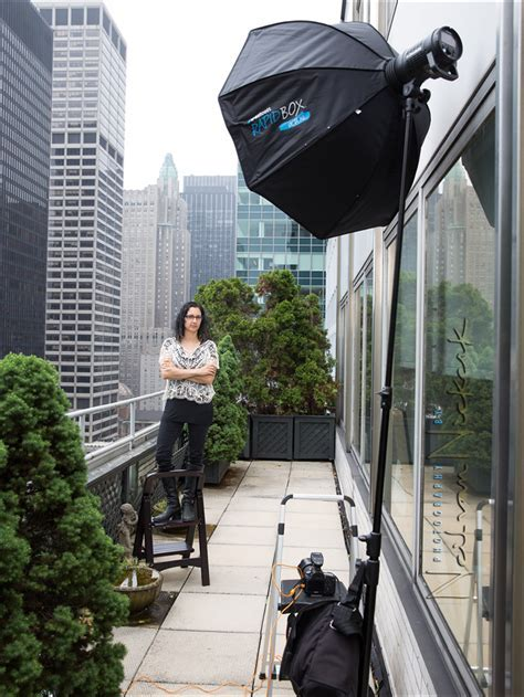 portable softbox for on location headshot photography