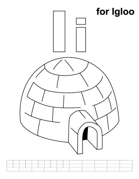 igloo printable coloring page i is for igloo coloring page coloring pages