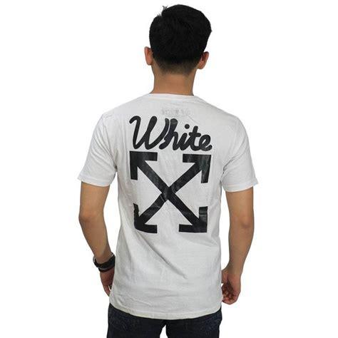 kaos white arrows pull broken white kaos pria