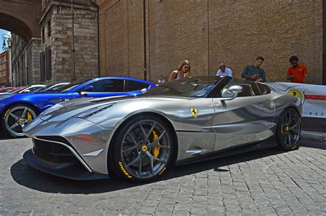 chrome ferrari unique chrome silver ferrari f12 trs spotted in rome