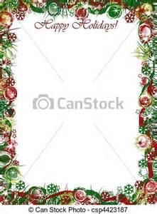 stock illustrations of christmas border happy holidays