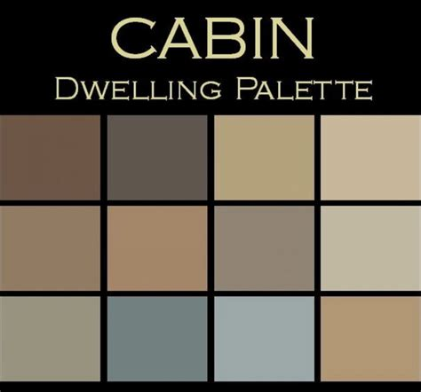 rustic color palette color in space cabin palette warm cozy rustic accessories and decor by color in space inc