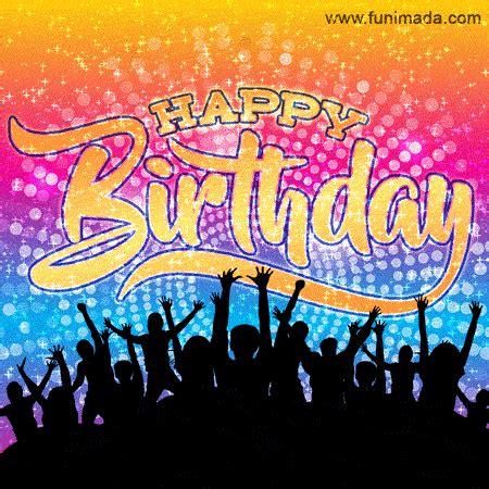 cool disco party animated happy birthday image gif   funimadacom
