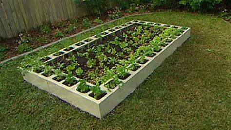 Concrete Block Planters And Raised Beds Improvised Life Cinder Block Vegetable Garden