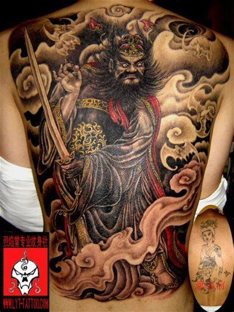 japanese tattoo ointment chinese god of war inks scars pinterest