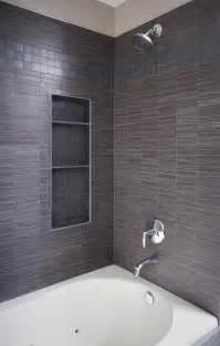 Corner Bath Shower Screens tile shower with storage and polished chrome trim