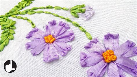 embroidery design making how to make ribbon embroidery design by hand handiworks