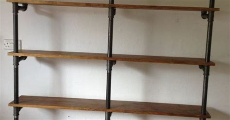 vintage industrial gas pipe shelving unit this beautiful