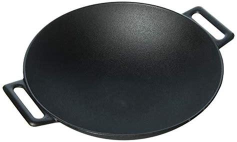 Amazonbasics Wok by Amazonbasics Pre Seasoned Cast Iron Wok Micromally