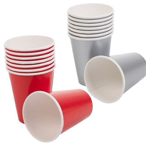 Paper Cups - or silver quality waxed paper cups