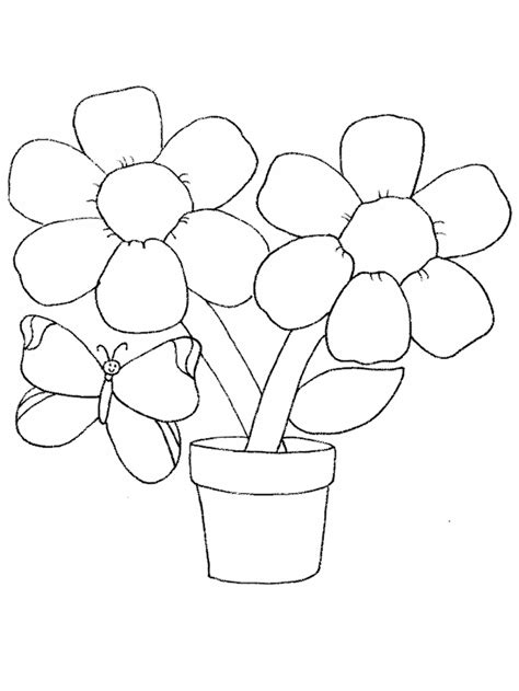 butterfly  flower coloring pages flower coloring page