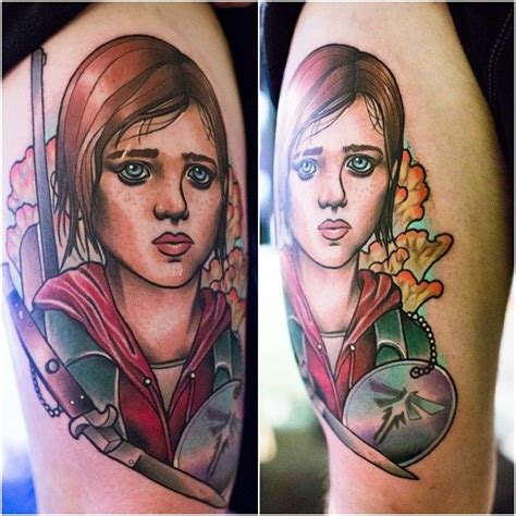 the last of us tattoo the last of us ellie o the last of us