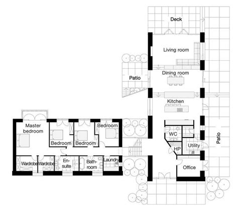 floor l l shaped four bedroom open floor plans search