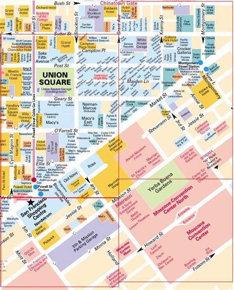 san francisco map of union square san francisco map union square
