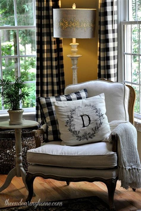 Plaid Curtains For Living Room House Tour House Snooping At The Endearing Home Plaid Curtains Fabrics And Living Rooms