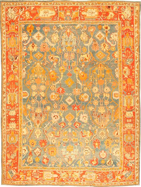 Antique Turkish Rugs by Antique Oushak Turkish Rug 42078 Nazmiyal Collection