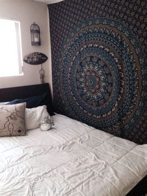 navy hipster room with tapestry bedroom ideas