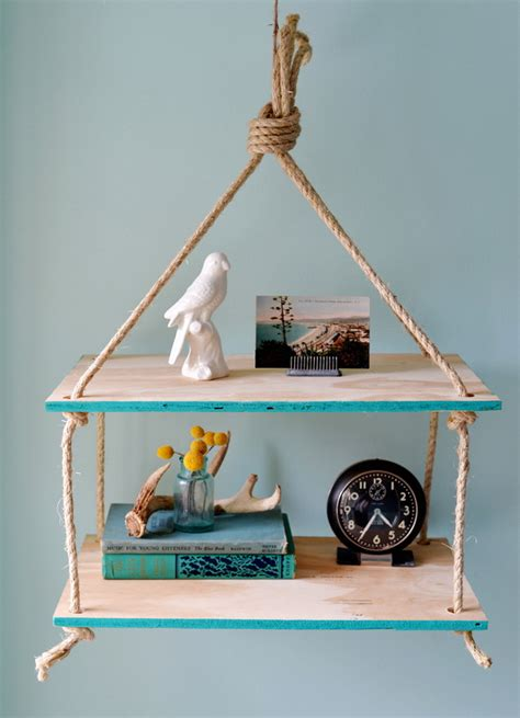 Suspended Shelf Ideas by Diy Hanging Rope Shelf Ideas Home Tweaks