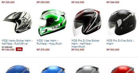 Harga Helm 100ribuan by Daftar Harga Helm Mds Terbaru