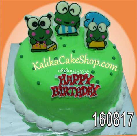 Coklat Karaktercoklat Cur cake coklat karakter keroppy kue ulang tahun bandung