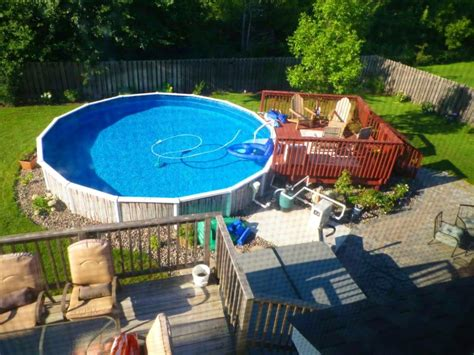 Landscape Ideas For Above Ground Pool Cheap Above Ground Pool Landscaping Ideas Home Design Ideas