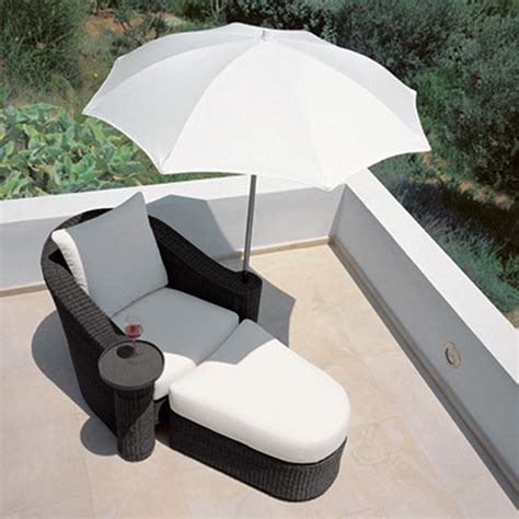 outdoor lounge chairs with umbrella new 4pc outdoor rattan lounge chair ottoman umbrella set
