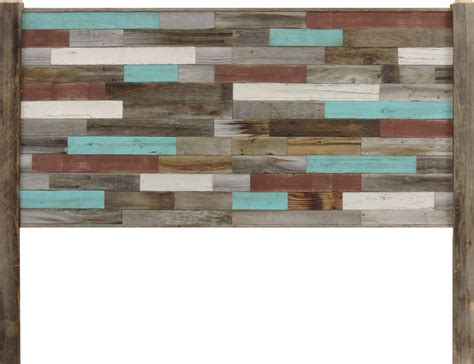 reclaimed wood inrustic retreat  headboard  full bed