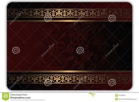 Gift Or Credit Card Template Stock Illustration Image 45182097 Card Background Templates 2