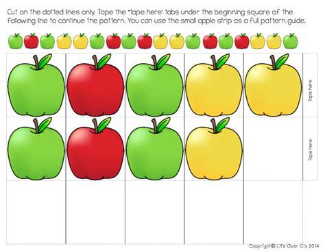 apple pattern for kindergarten free apple patterns for higher order thinking life over cs
