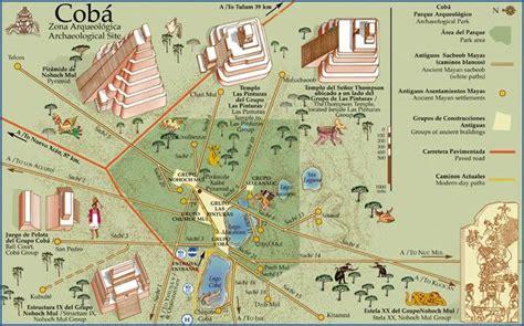 mayan ruins map mayan ruins of coba quintana roo mexico locogringo
