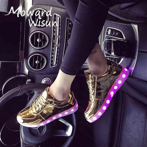 size 30 in shoes size 30 45 fashion glowing sneakers with light sole