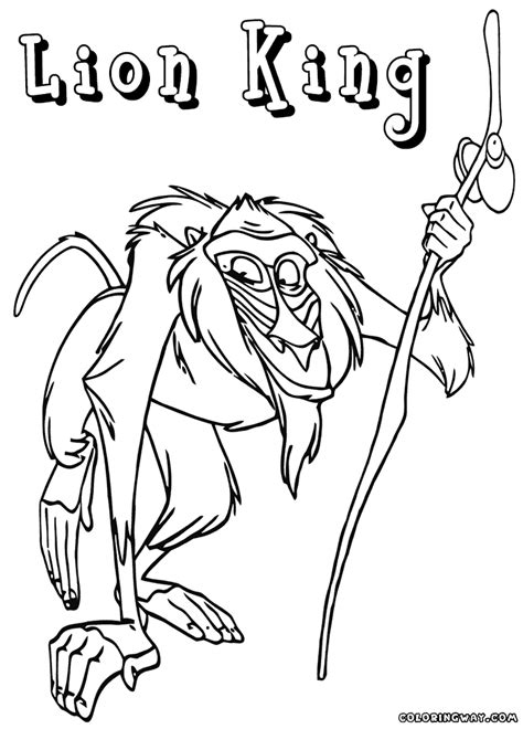 lion king rafiki coloring pages lion king coloring pages coloring pages to download and
