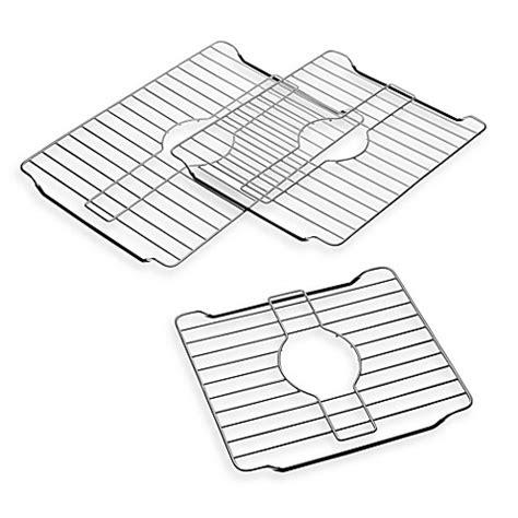 stainless steel sink rack stainless steel sink protector rack bedbathandbeyond com