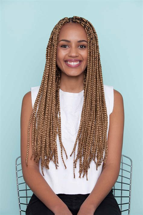 box braids hairstyles down half up half down bun tutorial on box braids