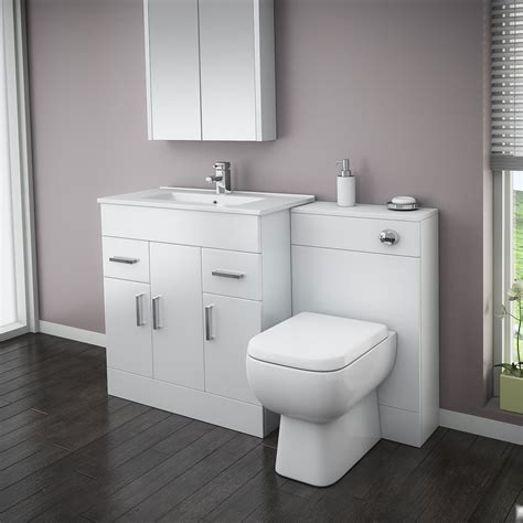 bathroom suites with vanity unit turin high gloss white vanity unit bathroom suite w1300 x