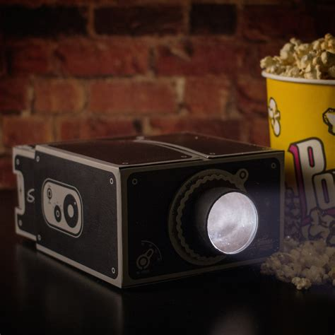 diy projector cardboard smartphone projector the green head