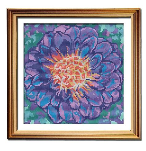 dahlia pattern review purple dahlia cross stitch pattern peacock fig