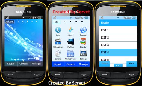 samsung themes to download for gt s3850 samsung corby ii gt s3850 blue theme best android game app