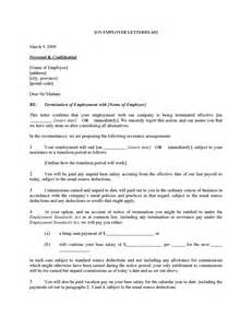 Termination Letter Sample Bc Canada Employee Termination Letter For Cause Legal Forms