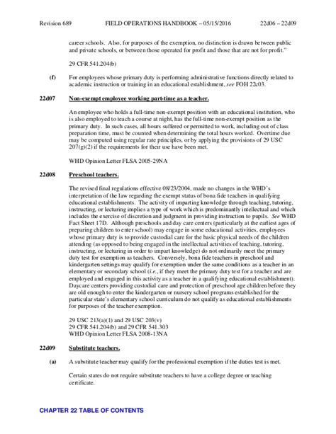 Section 13 A 1 Of The Flsa by Chapter 22 Executive Administrative Professional And