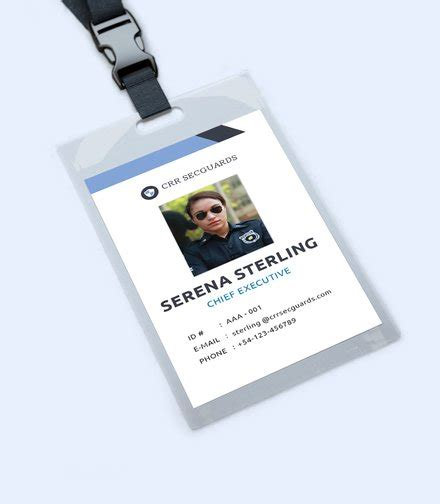 security guard id card template free id card templates ready made template net
