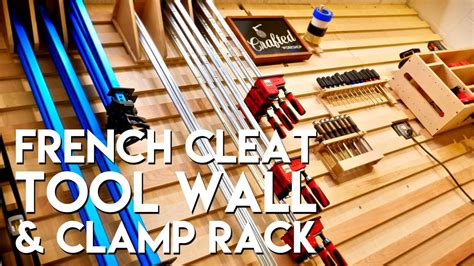 french cleat tool storage wall  clamp rack